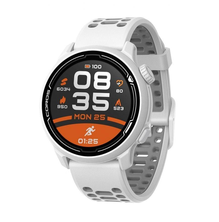 Часы Coros PACE 2 Premium White c силиконовым ремешком