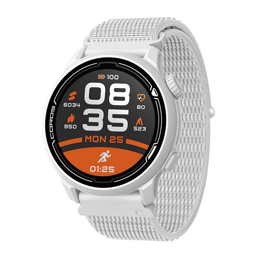 Часы Coros PACE 2 Premium White c нейлоновым ремешком