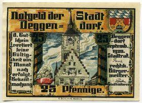 Германия. Нотгельд г. Деггендорф 25 пфеннигов 1920