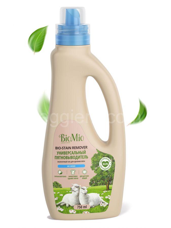 Пятновыводитель универсальный без запаха BioMio,750 мл