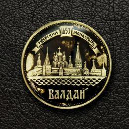 Магнит круглый «Валдай. Иверский монастырь»