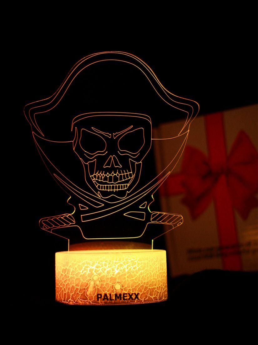 Светодиодный ночник PALMEXX 3D светильник LED RGB 7 цветов (пират)