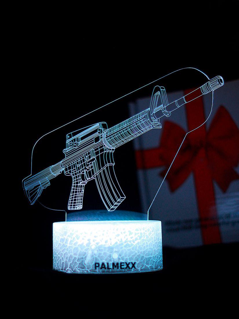 Светодиодный ночник PALMEXX 3D светильник LED RGB 7 цветов (автомат)