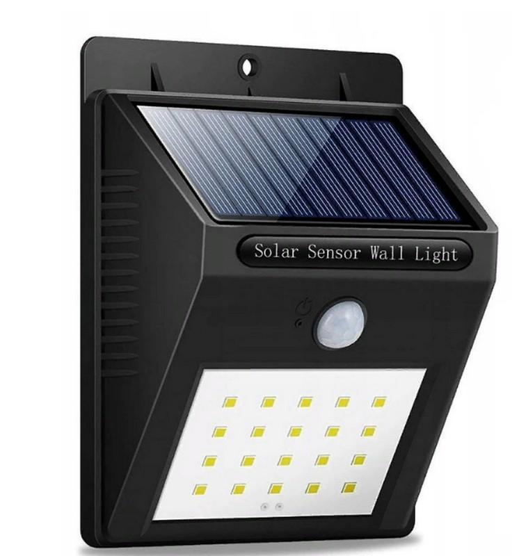 Светодиодный уличный фонарь на солнечной батарее Solar Sensor Wall light