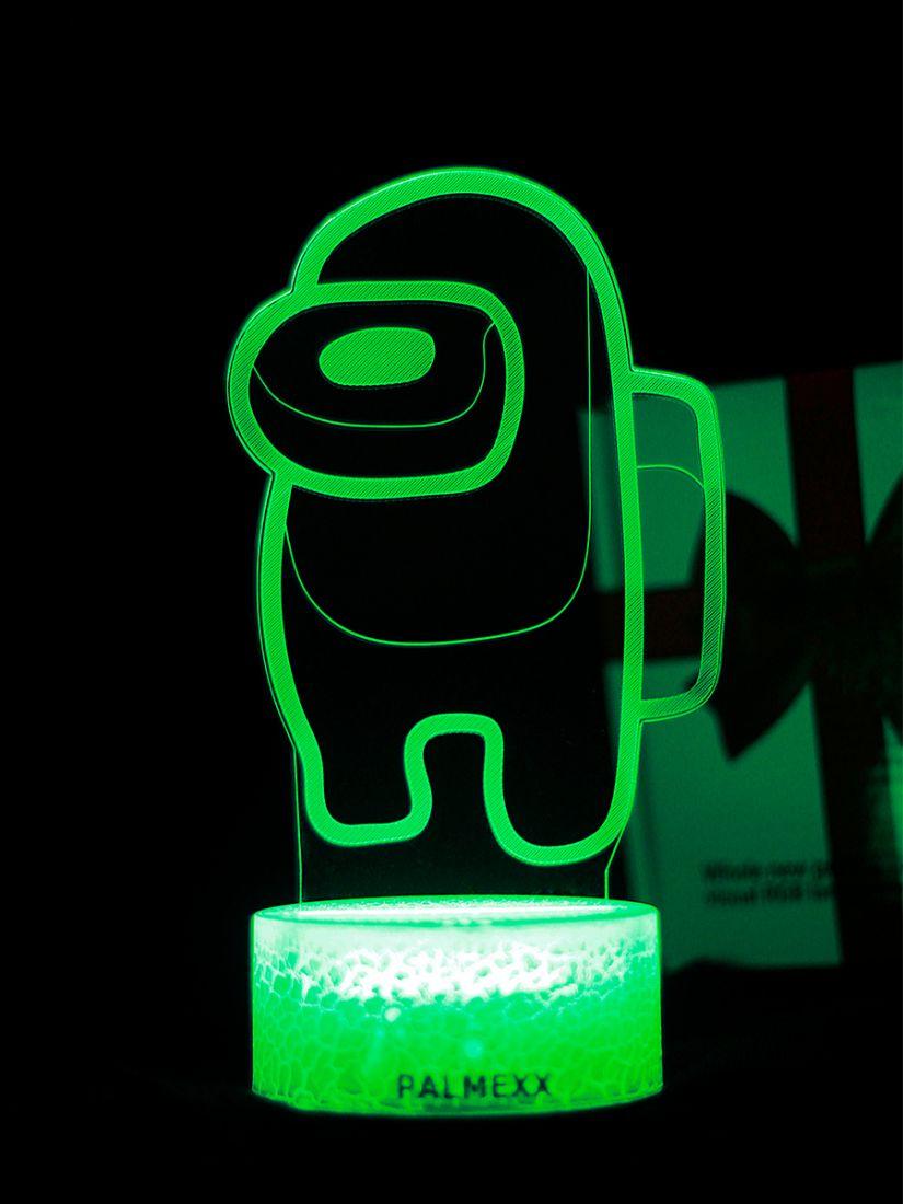 Светодиодный ночник PALMEXX 3D светильник LED RGB 7 цветов (амонг ас)