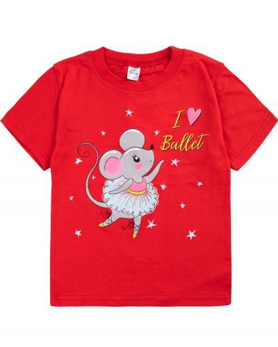 """Футболка для девочек 1-4 лет Bonito """"mouse and bunny"""""""