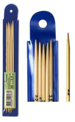 Спицы BC2 чулочные бамбук Gamma 20 см