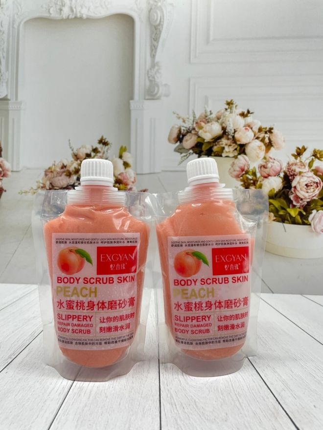 Скраб для тела с экстрактом персика EXGYAN Body Scrub Peach (7190)