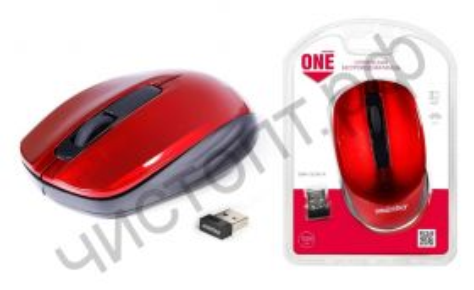 Мышь беспроводн. Smartbuy ONE 332 красная (SBM-332AG-R)