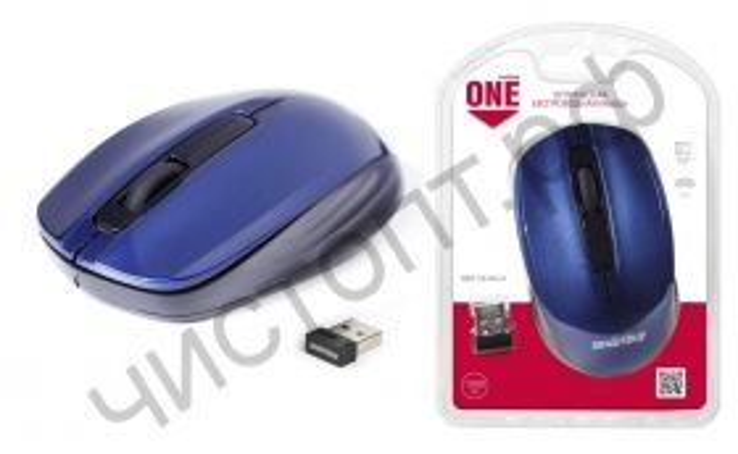 Мышь беспроводн. Smartbuy ONE 332 синяя (SBM-332AG-B)