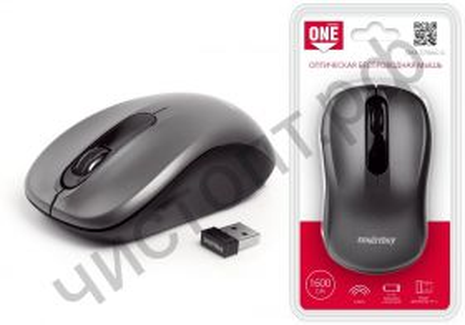 Мышь беспроводн. Smartbuy ONE 378 серая (SBM-378AG-G)