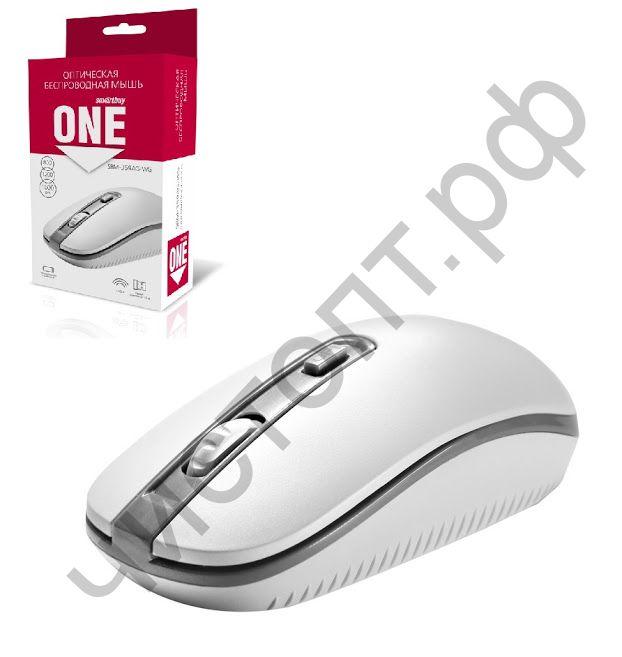 Мышь беспроводн. Smartbuy ONE 359G-K бело-серая (SBM-359AG-WG)