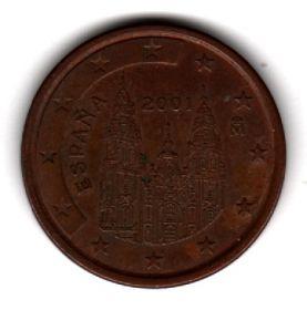 Испания 5 евроцентов 2001
