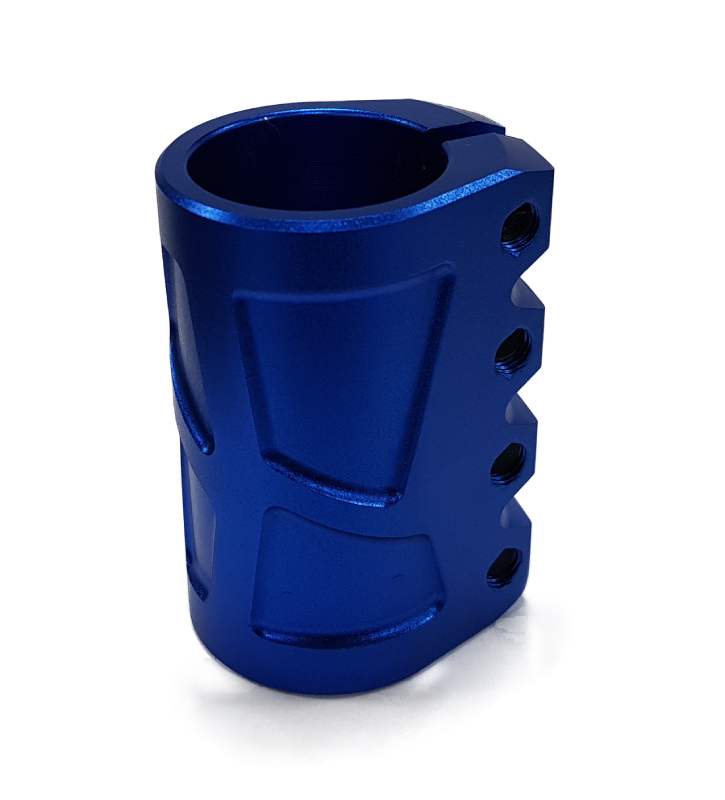 Зажим 4 болта GV, SCS (CHOPPER) blue