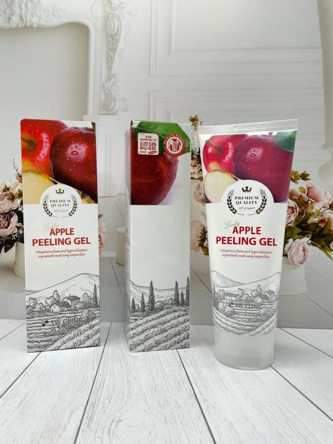 Пилинг-гель для лица 3W Clinic Lovely Apple Peeling Gel (7300) Корея оригинал)