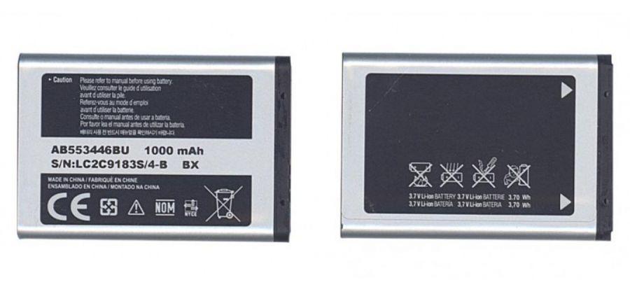 Аккумулятор Samsung B2100/C3212 Duos/C3300/C5212 Duos/E1110/E1130/E1182/E2120/E2232/i320/M110/... (AB553446BU) Аналог