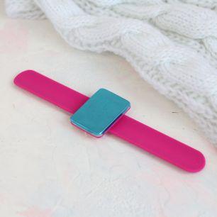 Магнитная игольница-браслет розовый