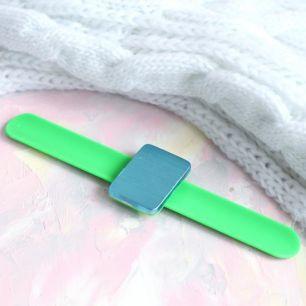Магнитная игольница-браслет зеленый