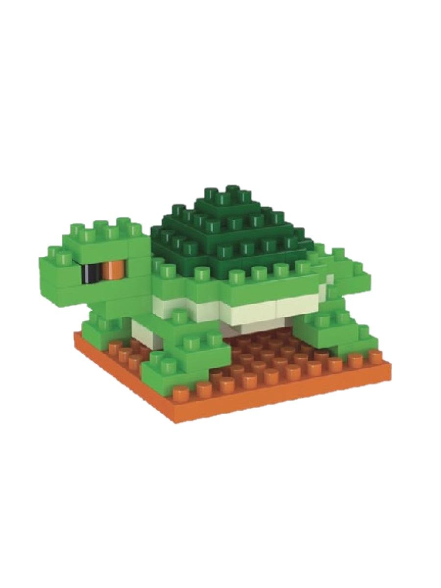 Конструктор Wisehawk & LNO Черепаха 60 деталей NO. 2804-7 Turtle Mini blocks