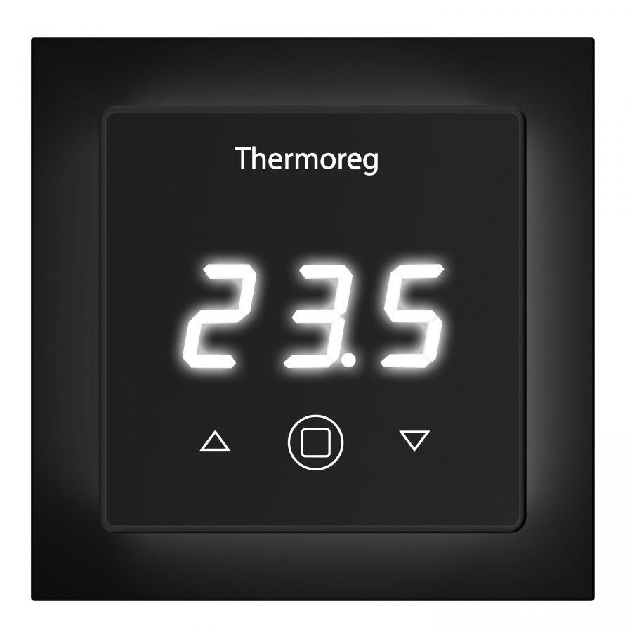 Электронный терморегулятор Thermoreg TI-300 Black черный для теплого пола