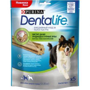 """Лакомство для собак средних пород Purina DentaLife """"Здоровые зубы и десна"""" 115гр"""