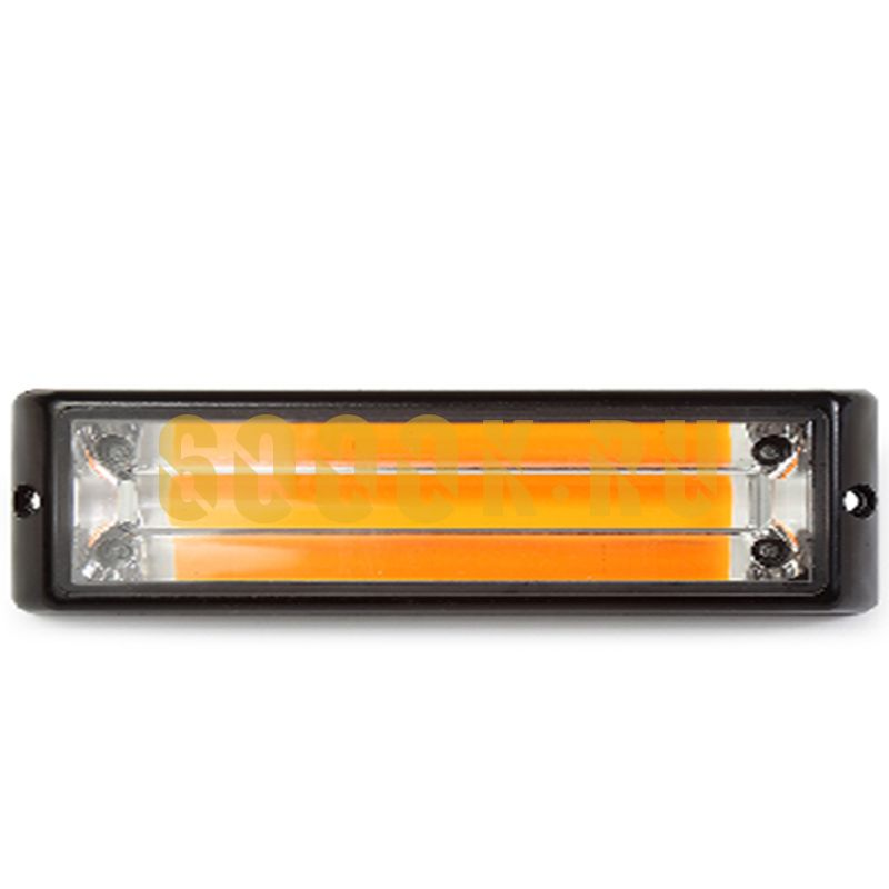 Маяк светодиодный 10-30V (желтый) Малый
