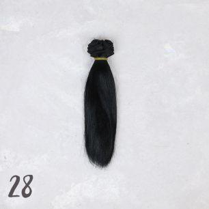 Шелковые трессы для создания причеcки куклам - Черный 15 см