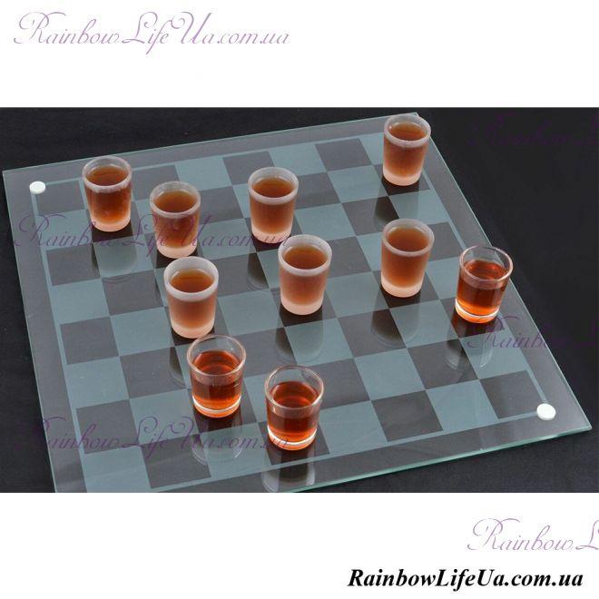 Алко шашки - рюмки 40 см х 40 см