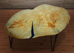 Прикроватный Стол из спила дерева Клен