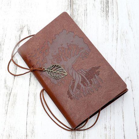 Блокнот Дерево знаний (13*19 см., коричневый)