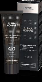 Краска-камуфляж для бороды ALPHA  4/0 шатен 40 мл
