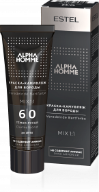 Краска-камуфляж для бороды ALPHA  6/0 темно-русый 40 мл