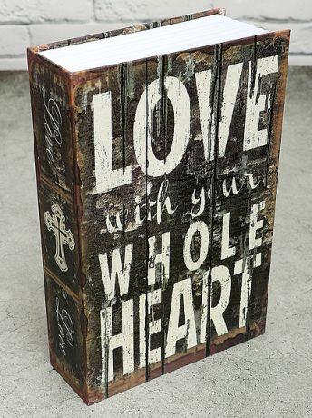 Книга-сейф Люблю всем сердцем (24*16 см)