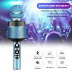 Орбита OT-ERM10 Синий RGB микрофон (Bluetooth, динамики, USB)