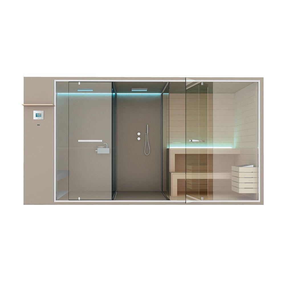 Хаммам со встроенным душем, душевым пространством и сауной Hafro Ethos 400х150 ФОТО