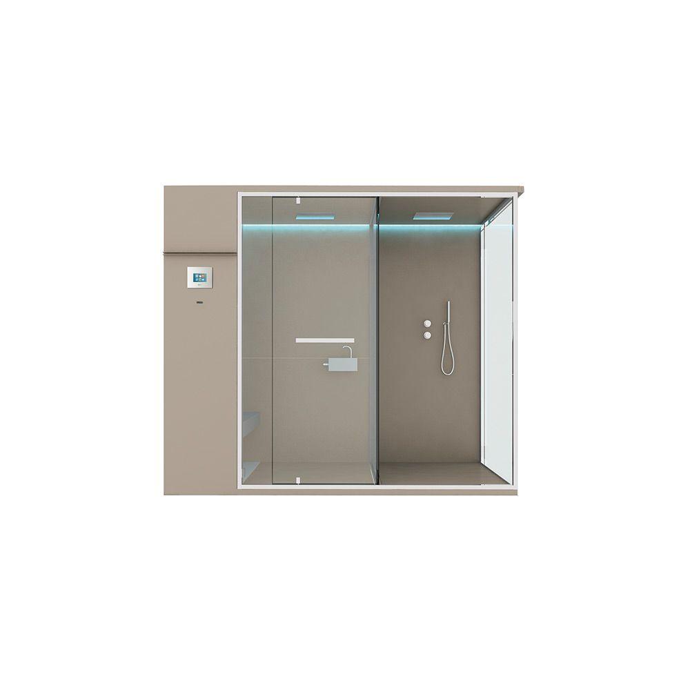 Хаммам со встроенным душем и душевым пространством Hafro Ethos 242х150 ФОТО