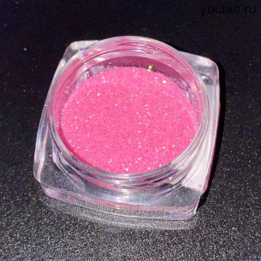 Блеск Premium  розовый голографик