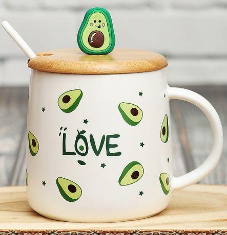 Кружка с крышкой Авокадо N 1