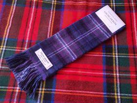 """теплый шотландский шарф 100% шерсть ягнёнка ,  тартан  """"Шотландия навсегда""""  SCOTLAND FOREVER TARTAN LAMBSWOOL SCARF, плотность 6"""