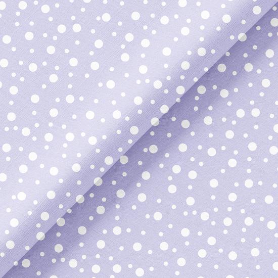 Хлопок Перкаль - Белый горошек на голубом 50х37