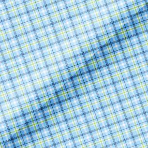 Хлопок Перкаль - Голубая шотландская клетка 50х37