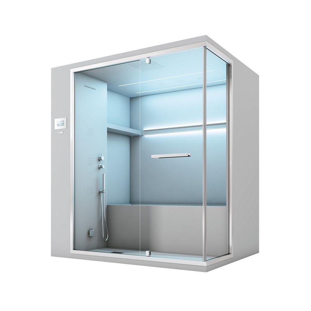 Хаммам с душем и встроенной ванной Hafro Olimpo 195х150 ФОТО