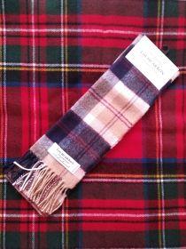 шарф теплый шотландский 100% шерсть ягнёнка ,расцветка Баннокбейн Navy Bannockbane BRUSHWOOL LONG BURNS CHECK SCARF