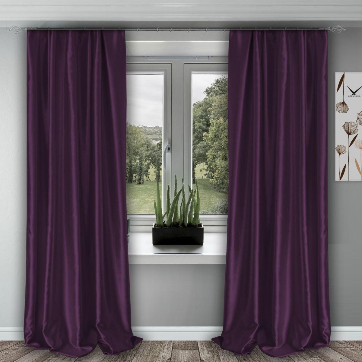 Комплект штор № 011, (270*150)х2, фиолетовый (возможно дополнительное комплектование занавеской из вуали артикул № 3-02 фиолетовый)