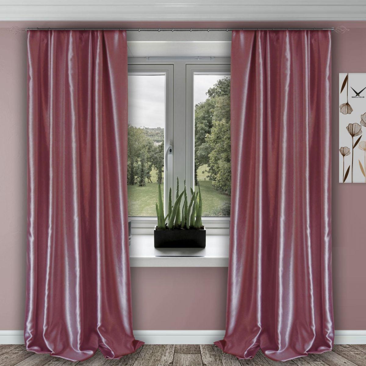Комплект штор № 011, (270*150)х2, розовый (возможно дополнительное комплектование занавеской из вуали артикул № 3-02 розовый)