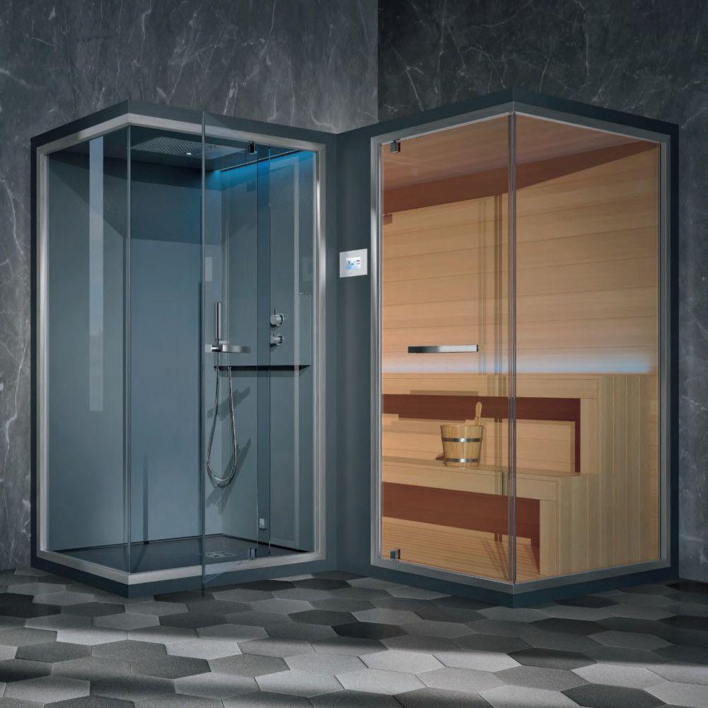 Хаммам со встроенным душем и сауной Hafro Ethos L 240х120 ФОТО
