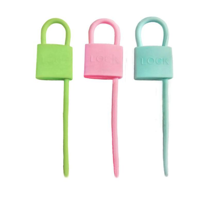 Силиконовый хомут Lock-Shape Silicone Cable Tie, 3 шт. Форма Квадрат