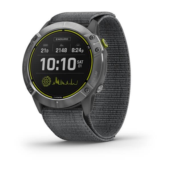 Часы Garmin Enduro стальной с серым нейлоновым ремешком UltraFit