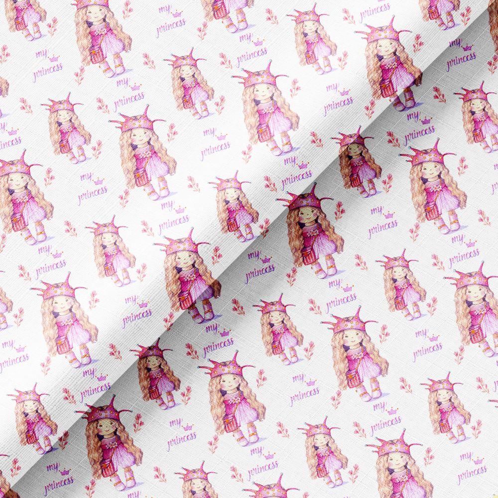 Хлопок Перкаль - Розовые куколки принцессы 50х37