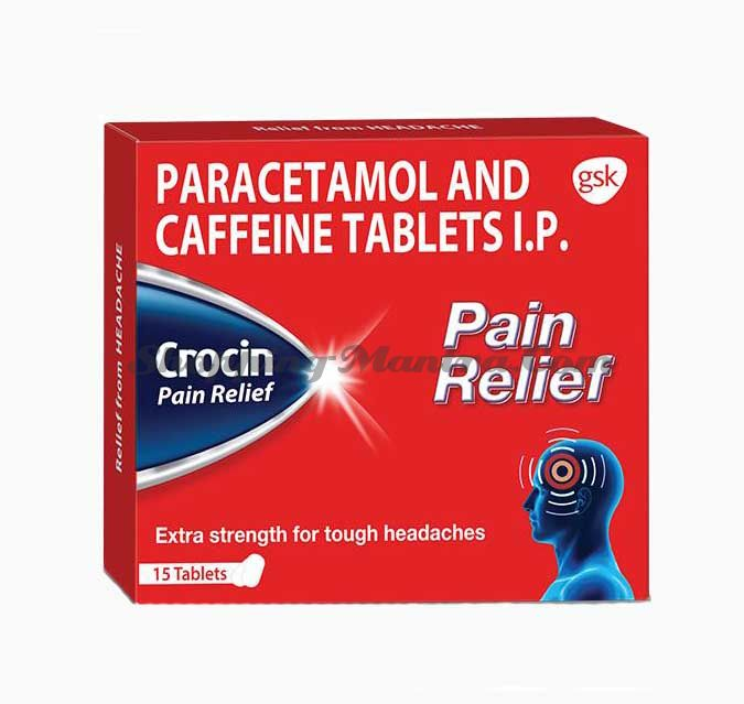 Кроцин обезболивающее | Glaxosmithkline Crocin Pain Relief Tablets